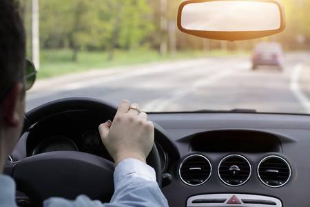 Photo pour Driving a car - image libre de droit