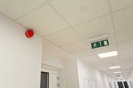 Foto de Emergency exit in the modern office building - Imagen libre de derechos