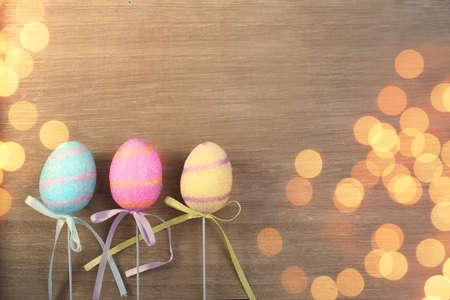Joyful Easter card with eggs