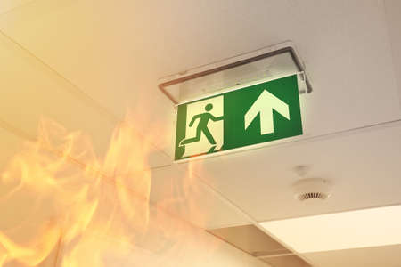 Foto de Fire in the building - Imagen libre de derechos