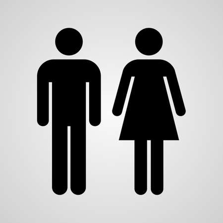 Illustration pour Stock Vector Linear icon male and female. Flat design. - image libre de droit