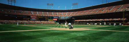 This is 3Com Stadium. It was formerly known as Candlestick Park. The San Francisco Giants ar mural