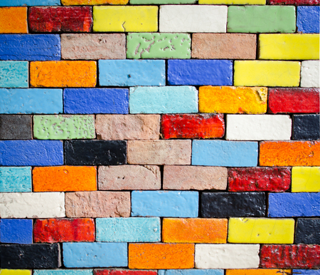 Photo for colorfull brick laying for background - Royalty Free Image