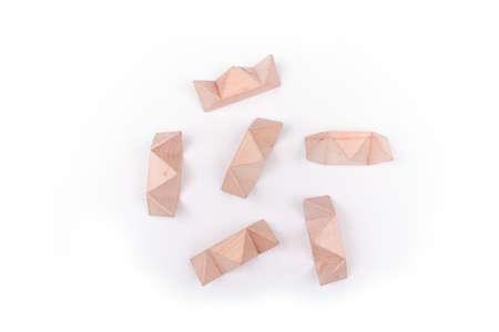 Foto de Wooden puzzle to challenge mind and test nerves - Imagen libre de derechos