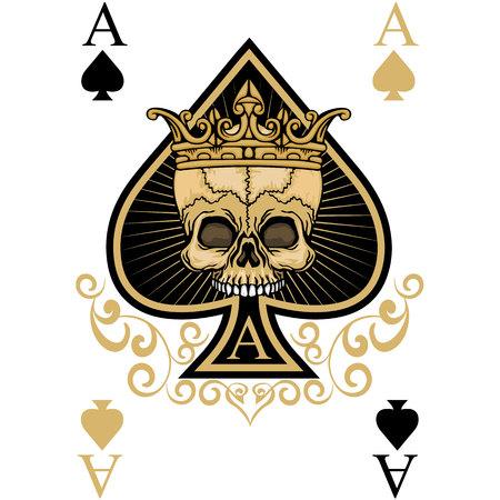 Illustration for grunge skull coat of arms - Royalty Free Image