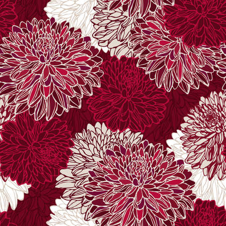 Illustration for Seamless pattern with decorative flowers - Royalty Free Image