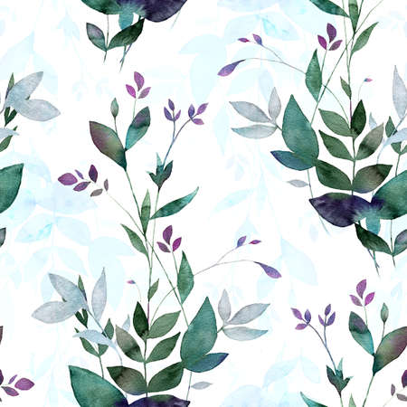 Photo for Abstract background base on watercolor painting. Digital mixed texture for textiles, fabrics, souvenirs, packaging, greeting cards and scrapbooking. Hand drawn seamless pattern. - Royalty Free Image