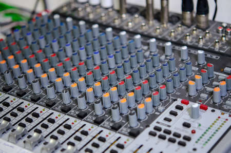 Photo for Photo of the Audio mix counter - Royalty Free Image