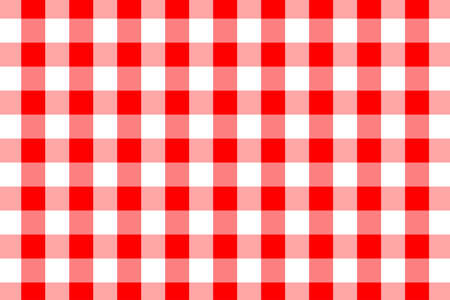 Illustration pour Red Gingham pattern. Texture from rhombus/squares for - plaid, tablecloths, clothes, shirts, dresses, paper, bedding, blankets, quilts and other textile products. Vector illustration. - image libre de droit