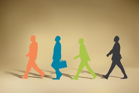 Ilustración de Business man Walking - Imagen libre de derechos