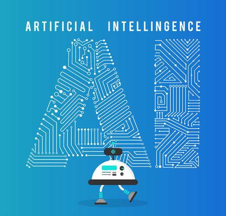 Illustration pour Robot with intelligence artificia concept. - image libre de droit