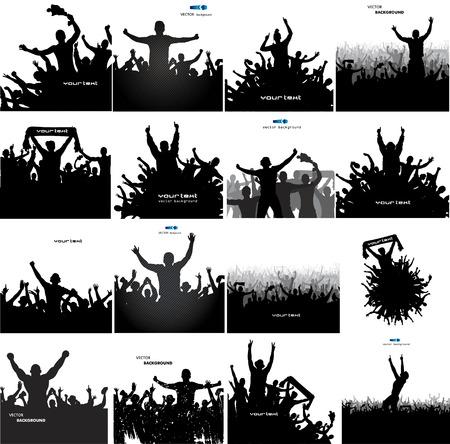 Illustration pour Set banners for sports championships and concerts - image libre de droit