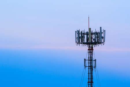 Photo pour Mobile phone Telecommunication Radio antenna Tower. - image libre de droit