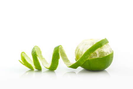 Foto de Fresh limes on white background. - Imagen libre de derechos