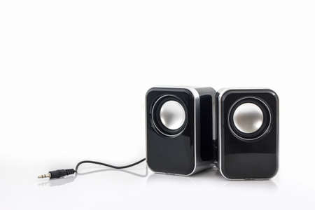 Photo for Small computer speakers on white background. - Royalty Free Image