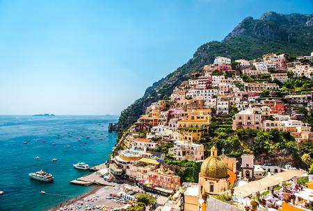 Foto de Picturesque Amalfi coast  Positano, Italy - Imagen libre de derechos