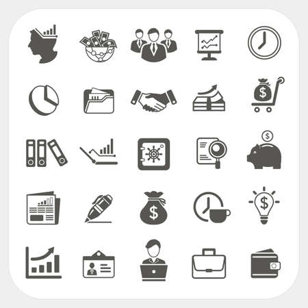Illustration pour Business, finance icons set - image libre de droit