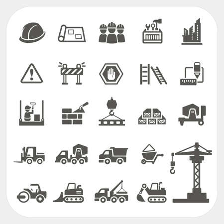 Photo pour Construction icons set - image libre de droit