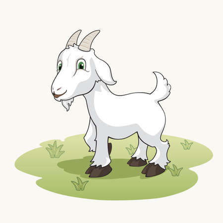 Illustration for Cute cartoon goat - Royalty Free Image