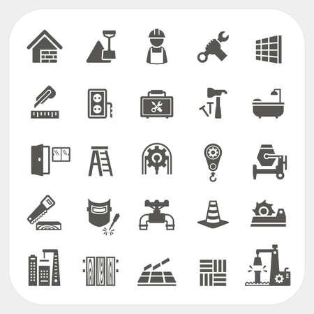 Illustration pour Construction icons set - image libre de droit