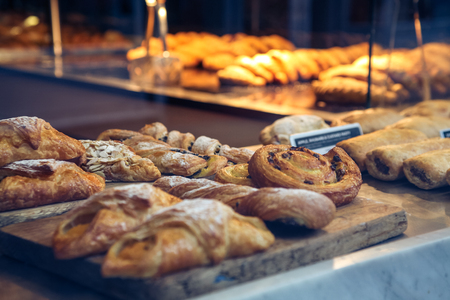 Photo for Pastries in a bakery window - Royalty Free Image