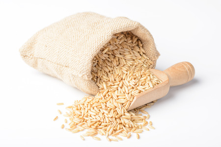 Photo for oats on the white background - Royalty Free Image