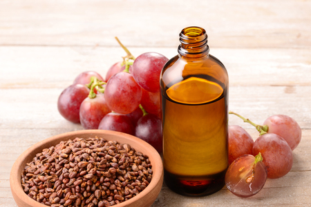 Photo for Cold Pressed Grape seed Oil - Royalty Free Image