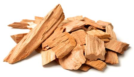 Photo for close up of sandalwood isolatd on the white background - Royalty Free Image