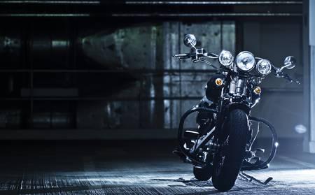 motorbike in the garage