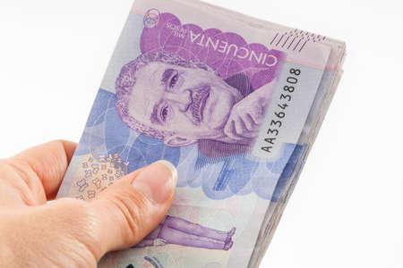 Foto de Close up of a woman handling money - Imagen libre de derechos
