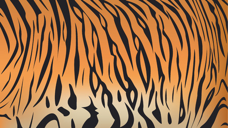 Illustration pour Vector illustration of bengal tiger stripe pattern - image libre de droit
