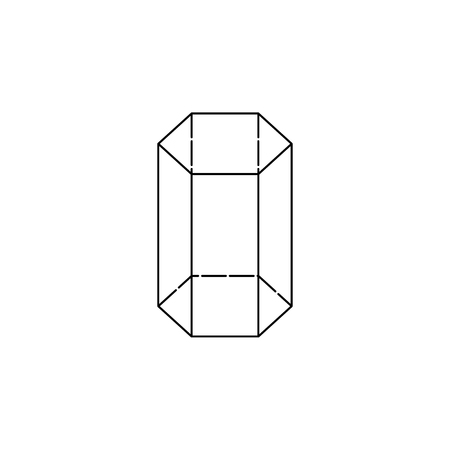 Photo pour Hexagonal prism icon, geometric figure element for mobile concept and web apps. Thin line icon for website design and development, app development. Premium icon white background on white background. - image libre de droit