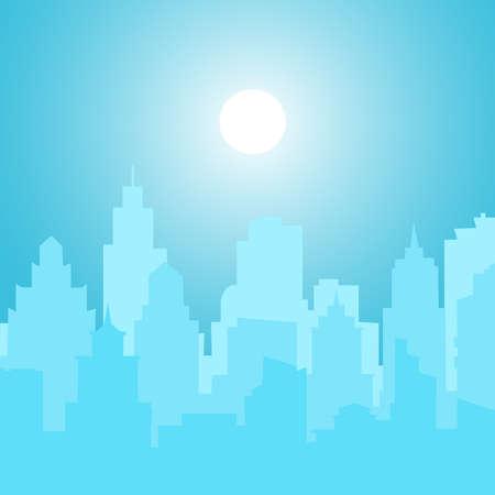 Illustrazione per Picture of blurred city. Vector - Immagini Royalty Free