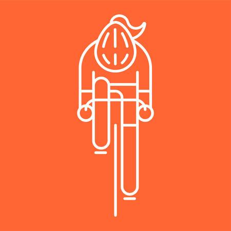 Illustrazione per Modern Illustration of woman cyclist - Immagini Royalty Free
