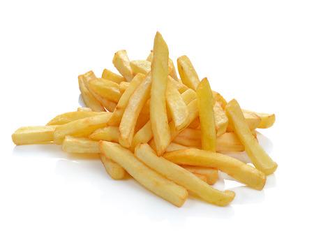 Photo pour Potatoes fries  isolated on white - image libre de droit