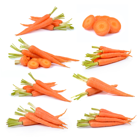Photo pour Carrot isolated on white background - image libre de droit