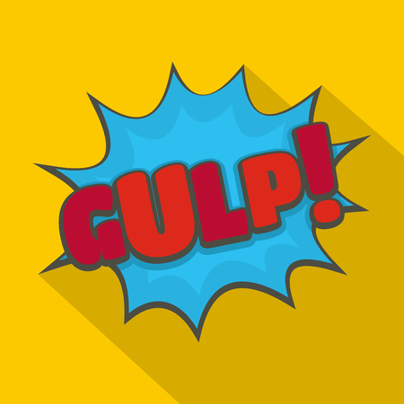 Ilustración de Comic boom gulp icon. Flat illustration of comic boom gulp vector icon for web - Imagen libre de derechos