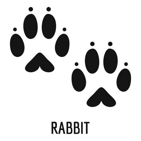 Ilustración de Rabbit step icon. Simple illustration of rabbit step vector icon for web - Imagen libre de derechos