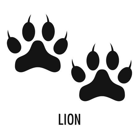 Ilustración de Lion step icon. Simple illustration of lion step vector icon for web - Imagen libre de derechos