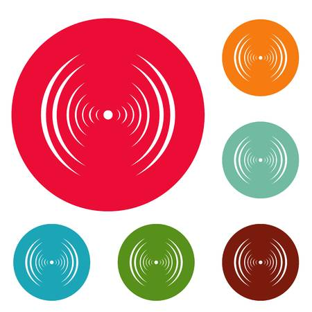 Ilustración de Equalizer abstract icons circle set vector isolated on white background - Imagen libre de derechos