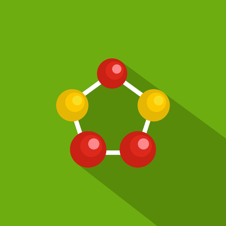 Illustration pour Hexagonal lattice icon. Flat illustration of hexagonal lattice vector icon for web - image libre de droit