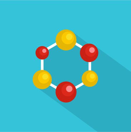 Illustration pour Science lattice icon. Flat illustration of science lattice vector icon for web - image libre de droit