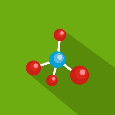 Illustration pour Atomic grid icon. Flat illustration of atomic grid vector icon for web - image libre de droit