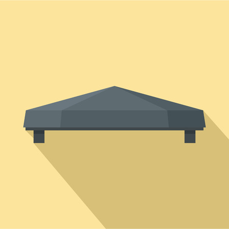Illustration pour Outdoor tent icon. Flat illustration of outdoor tent vector icon for web design - image libre de droit