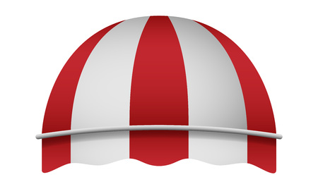Foto de Dome awning mockup. Realistic illustration of dome awning vector mockup for web design isolated on white background - Imagen libre de derechos