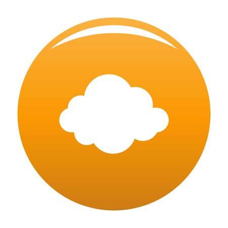 Illustration pour Autumn cloud icon. Simple illustration of autumn cloud vector icon for any design orange - image libre de droit