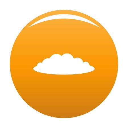 Illustration pour Cloud icon. Simple illustration of cloud vector icon for any design orange - image libre de droit