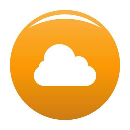 Illustration pour Stratus icon. Simple illustration of stratus vector icon for any design orange - image libre de droit
