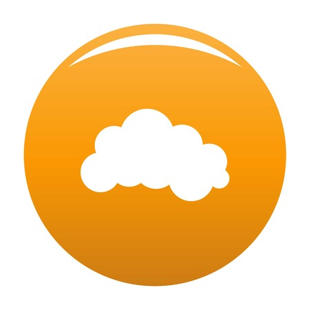Illustration pour Night cloud icon. Simple illustration of night cloud vector icon for any design orange - image libre de droit