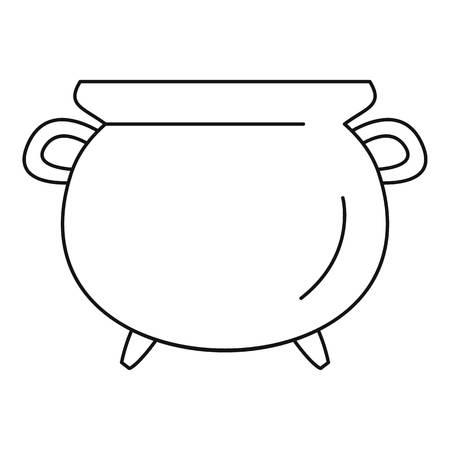 Illustration pour Vintage cauldron icon. Outline vintage cauldron vector icon for web design isolated on white background - image libre de droit